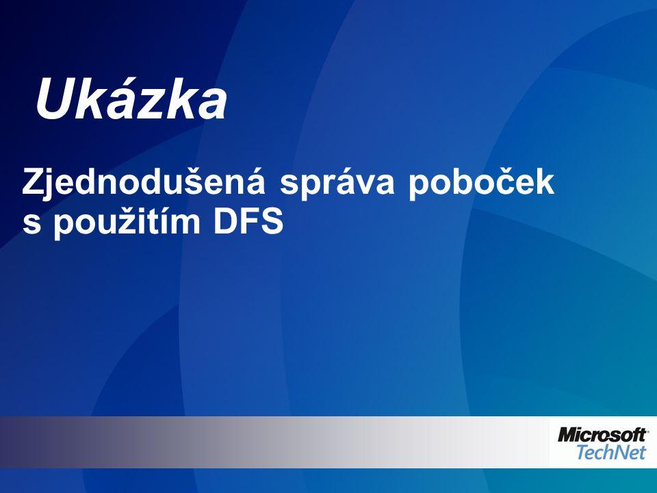 Ukázka Zjednodušená správa poboček s použitím DFS