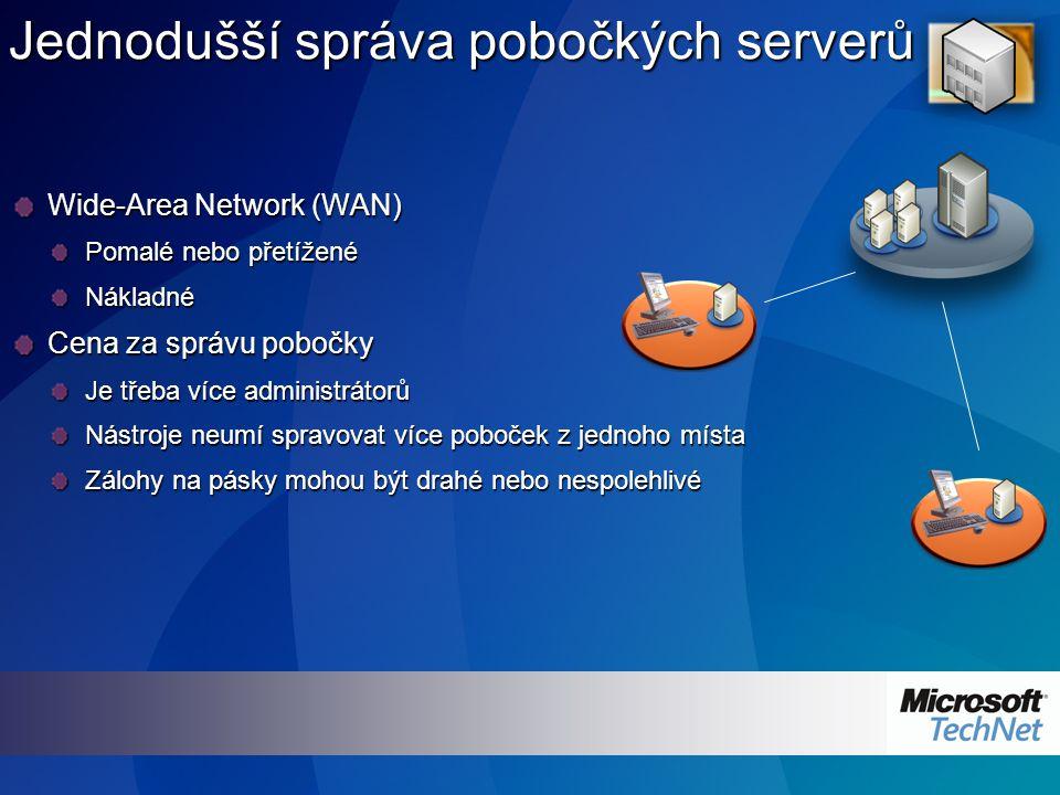 Služba ADAM (Active Directory Application Mode) Odlehčený, na doméně nezávislý režim Active Directory sloužící jako adresářová služba pro aplikace Stejný kód jako Active Directory Jednoduchá instalace pomocí průvodce Flexibilita schématu Autentizace v Active Directory, autorizace v ADAMu z důvodu vyšší bezpečnosti