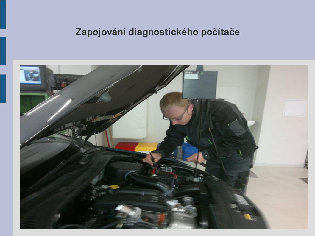 Zapojování diagnostického počítače