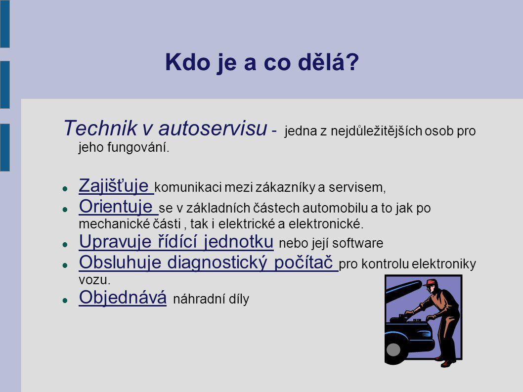 Kdo je a co dělá. Technik v autoservisu - jedna z nejdůležitějších osob pro jeho fungování.