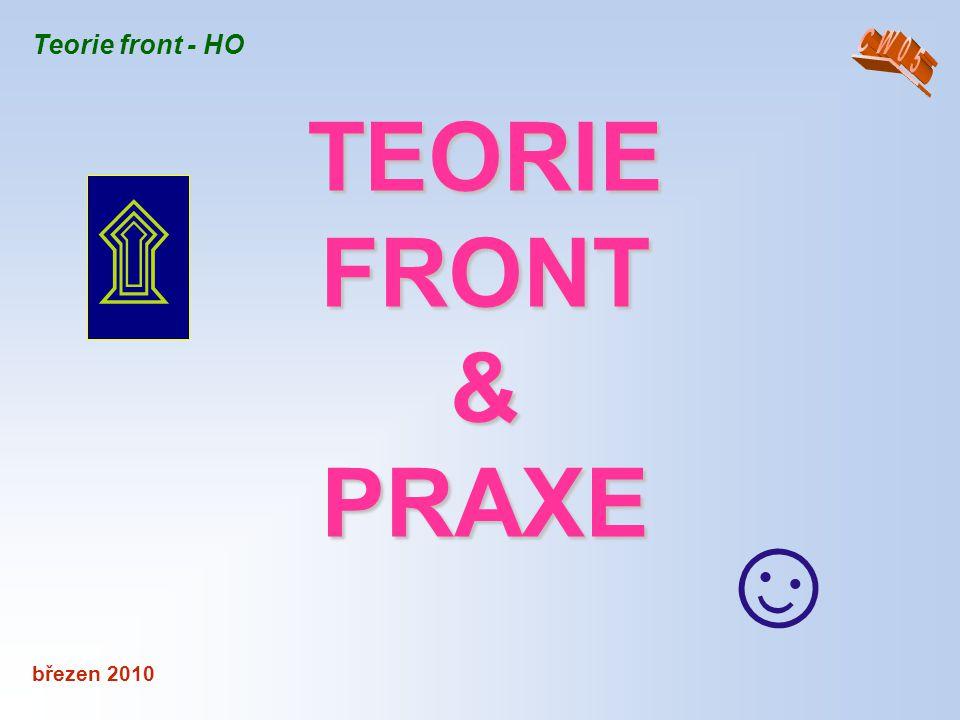 březen 2010 Teorie front - HO č.9 – Trvání práce požadovaného objemu, je- li počet obsluhovaných prvků: T = G ∗ TC / O ∗ n kde G je požadovaný objem práce.