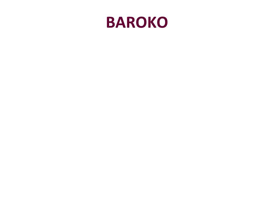 Baroko název je odvozen z portugalského slova barroco = perla nepravidelného tvaru, zakřivení 2.