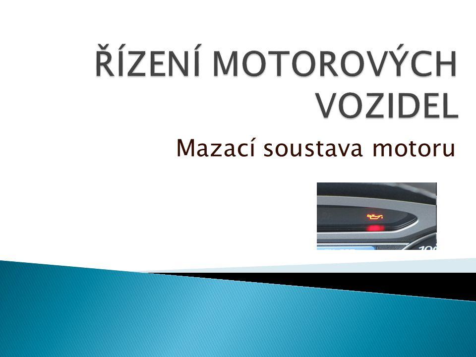 Mazací soustava motoru