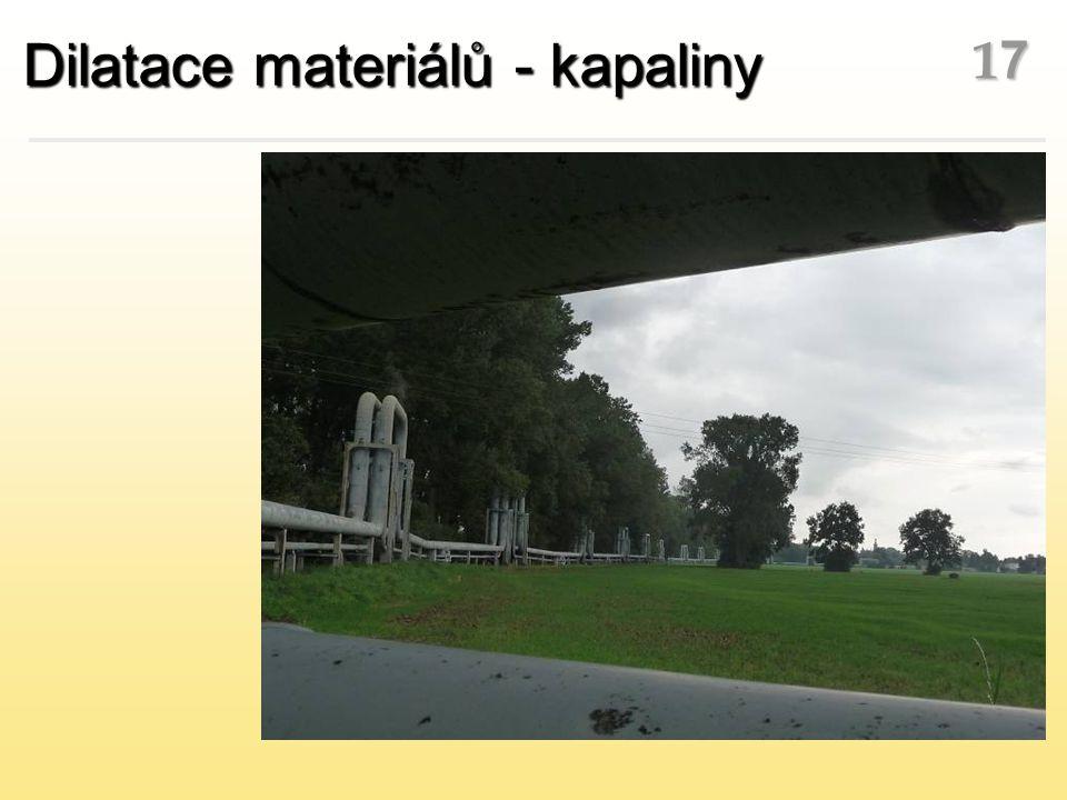 17171717 Dilatace materiálů - kapaliny