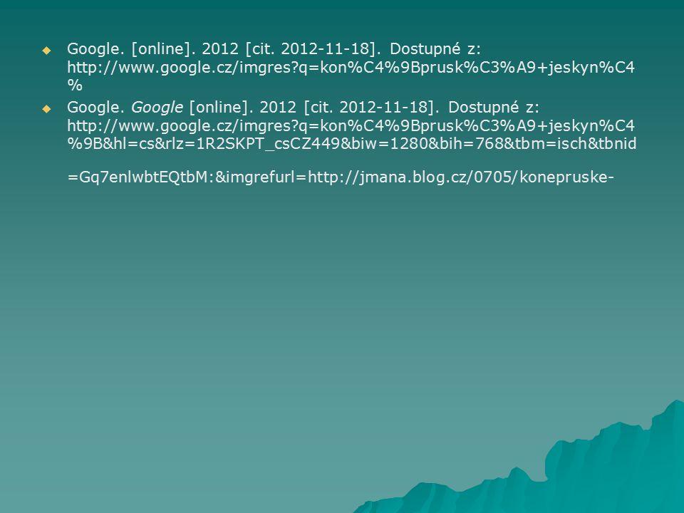   Google.[online]. 2012 [cit. 2012-11-18].