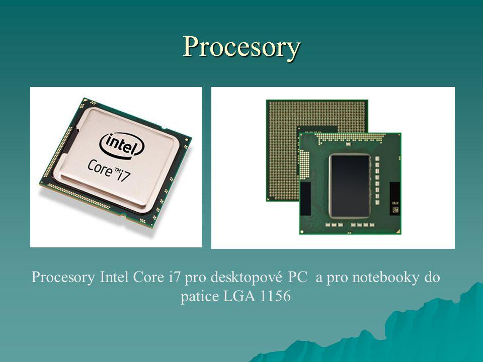 Procesory Procesory Intel Core i7 pro desktopové PC a pro notebooky do patice LGA 1156