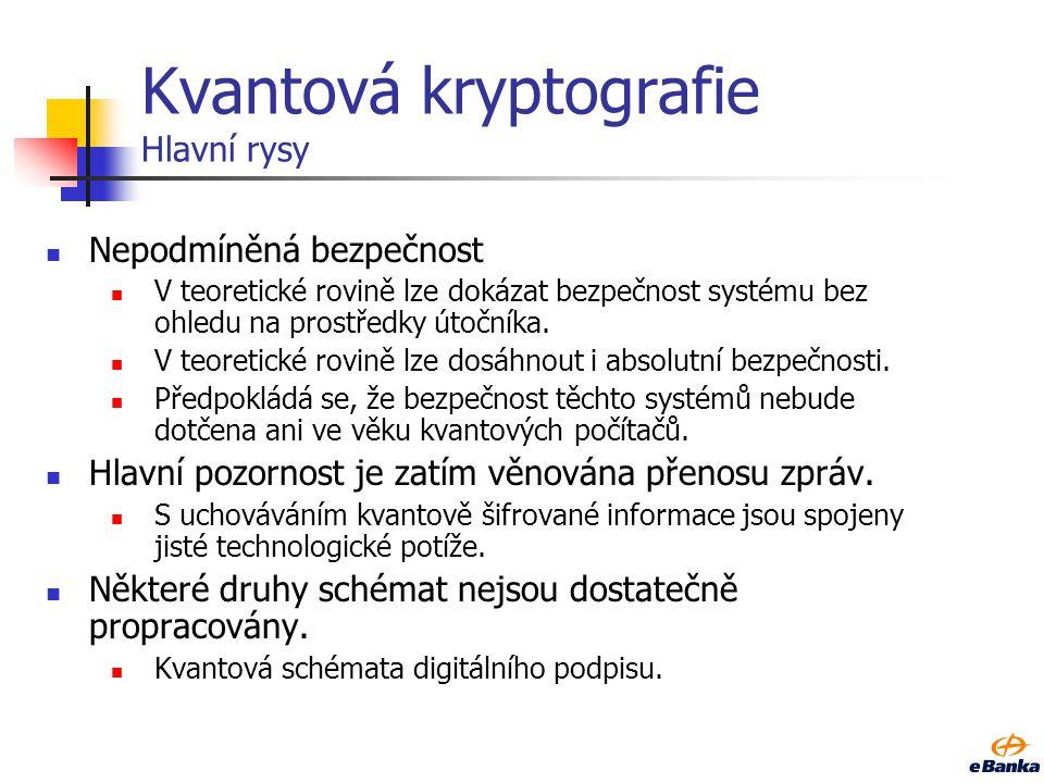 Kvantová kryptologie Jak na ní reagovat Z teoretického hlediska existuje pouze jedna kryptologie.