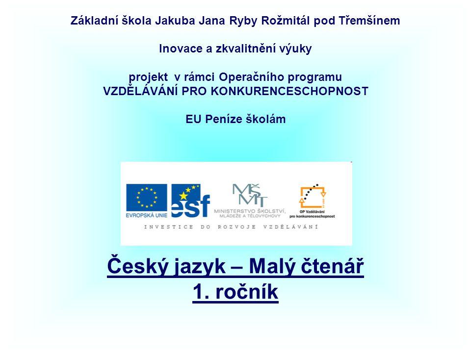 Název: Český jazyk – Malý čtenář - procvičování - 1.