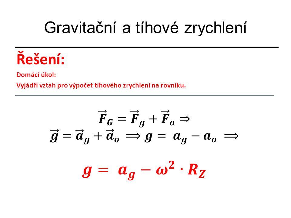 Gravitační a tíhové zrychlení