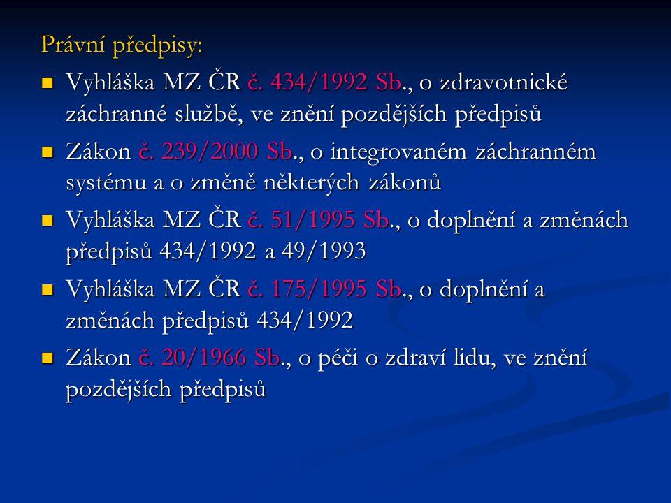 Právní předpisy: Vyhláška MZ ČR č.