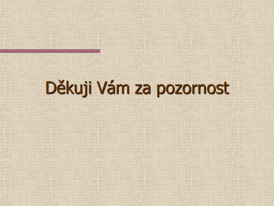 Literatura n Balák, M. a kol.: Autoatlas Česká republika 1:100000, Geodézie ČS, a. s. a Geodézie Brno, a. s., 1996 n Horák, J. a kol.: Posouzení vlivu