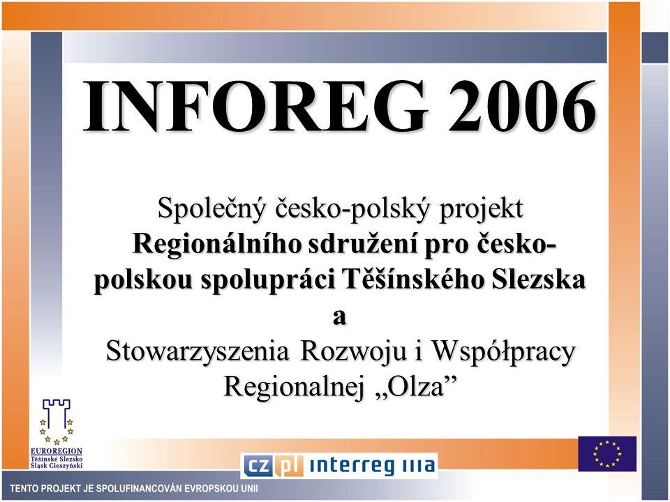 Inventarizace týká se první roviny informací Informace o informacích  vznik elektronické báze pro poskytování informací v obou částech Euroregionu