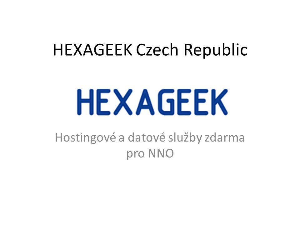 HEXAGEEK Czech Republic Hostingové a datové služby zdarma pro NNO