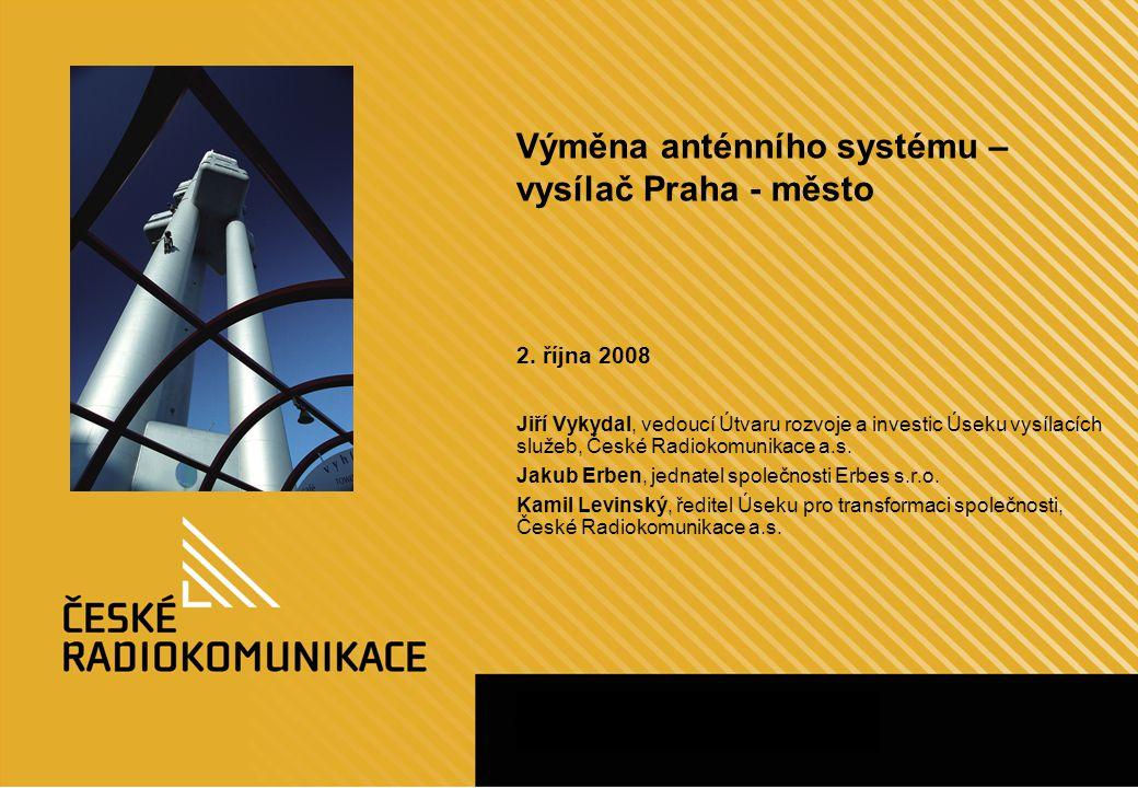 12 Ukázka instalace antény na příkladu Prahy(3) ATV DVB-T/H ATV DVB-T/H Instalace nové antény speciálním vrtulníkem, instalace nových napáječů Montáž a měření antény, instalace vysílačů a zapnutí vysílání Demontáž dočasné antény
