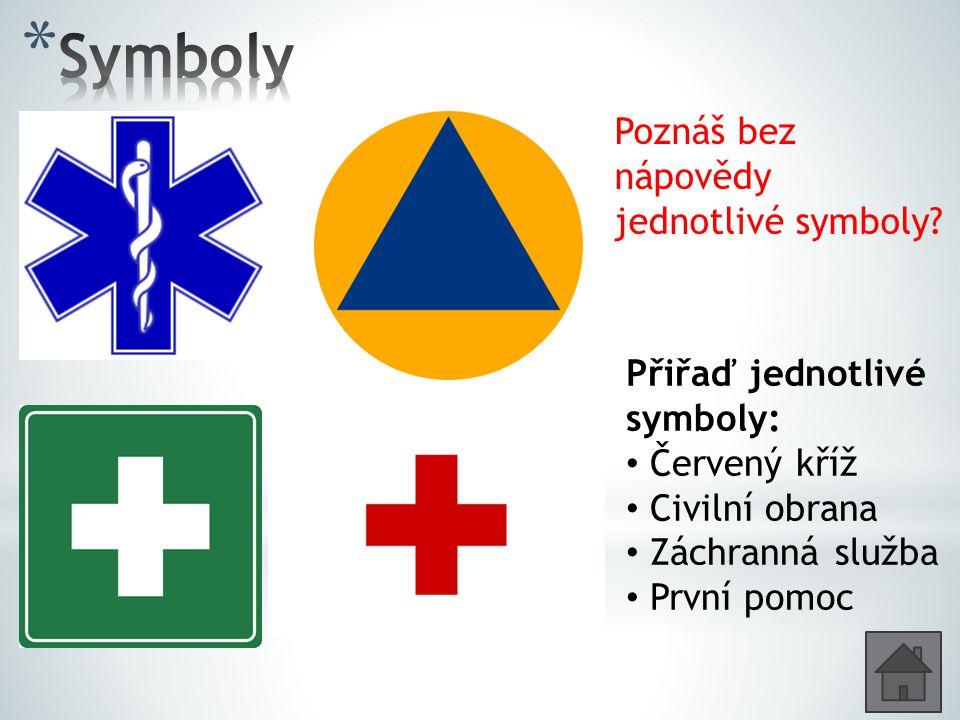 Poznáš bez nápovědy jednotlivé symboly.