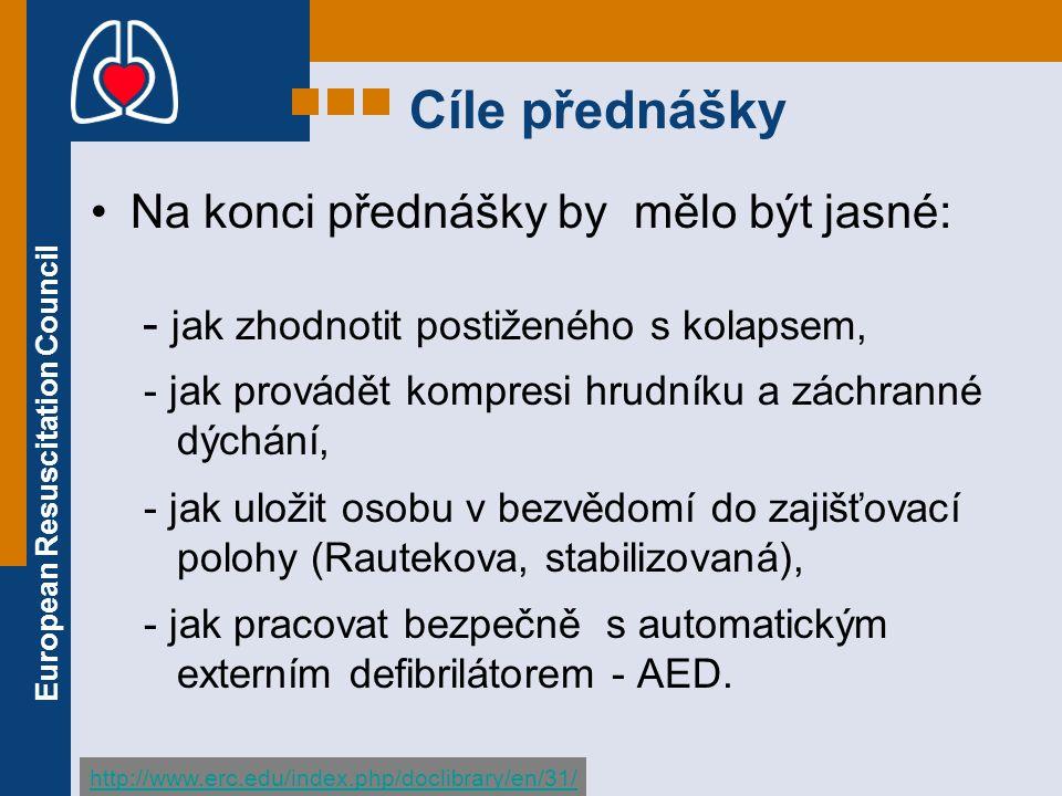 European Resuscitation Council PRÁVNÍ ASPEKTY II.