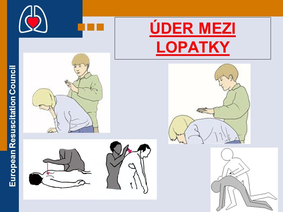 European Resuscitation Council ÚDER MEZI LOPATKY