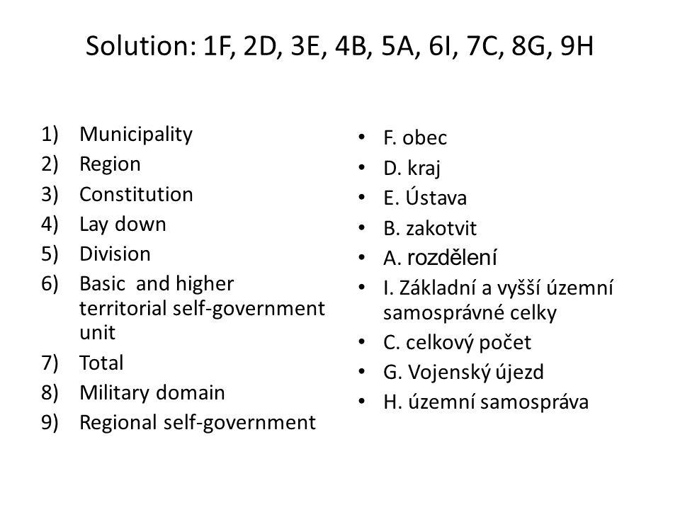 Zdroje: ZAVÁZALOVÁ, Vladimíra; LUKÁČOVÁ, Alena.Angličtina pro veřejnou správu.