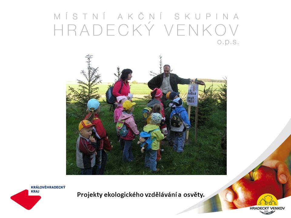 Projekty ekologického vzdělávání a osvěty.