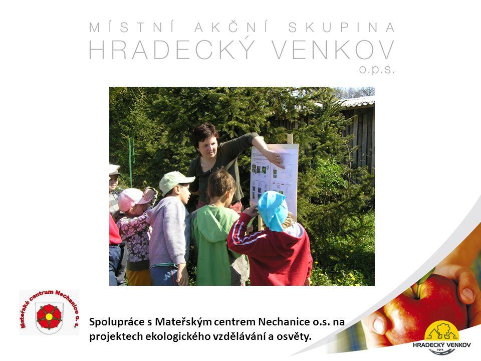 Spolupráce s Mateřským centrem Nechanice o.s. na projektech ekologického vzdělávání a osvěty.