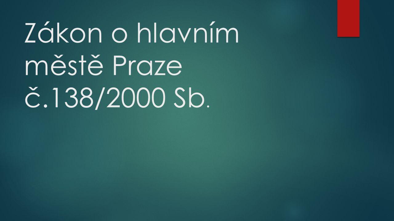 Zákon o hlavním městě Praze č.138/2000 Sb.