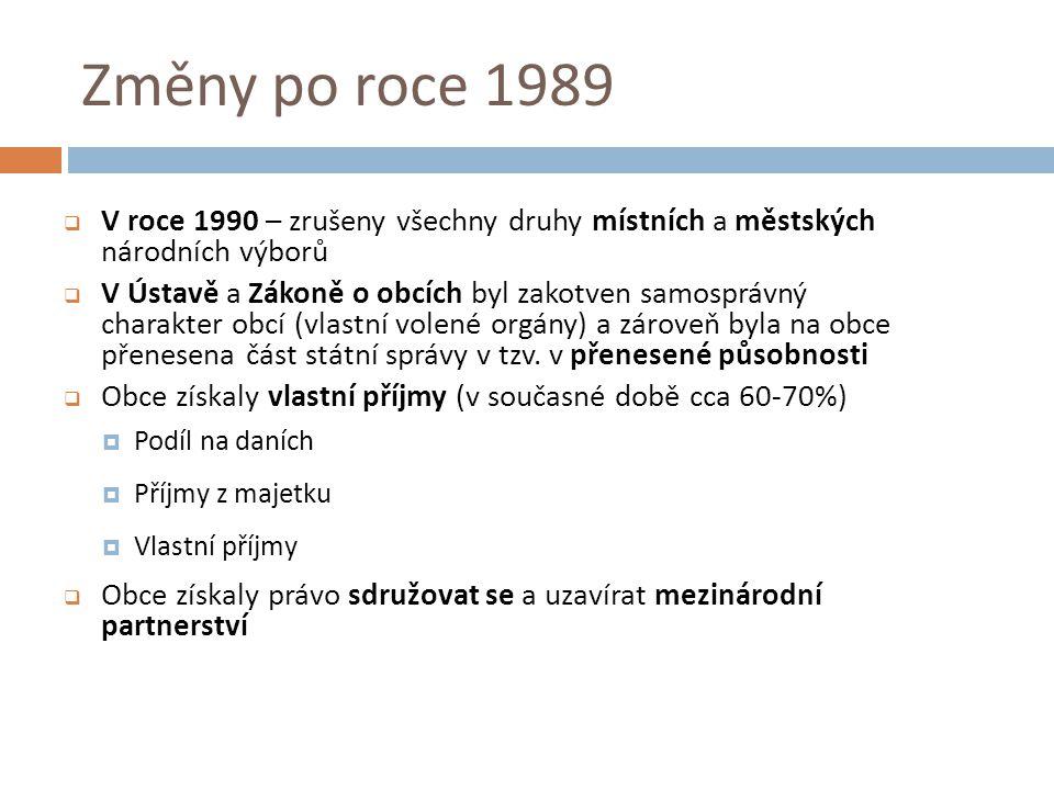 Specifické skupiny obcí  Dle pravomocí  Obce  Pověřené obce (přenesená působnost státní správy)  Obce s rozšířenou pravomocí  Brno, Ostrava, Plzeň  Hl.