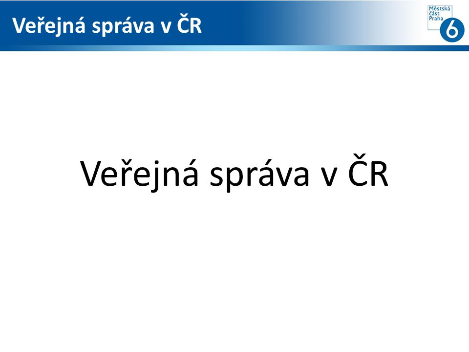 Veřejná správa v ČR