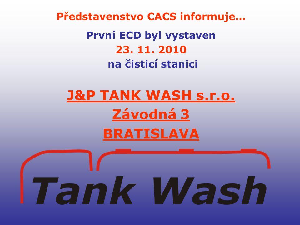 Představenstvo CACS informuje… První ECD byl vystaven 23.