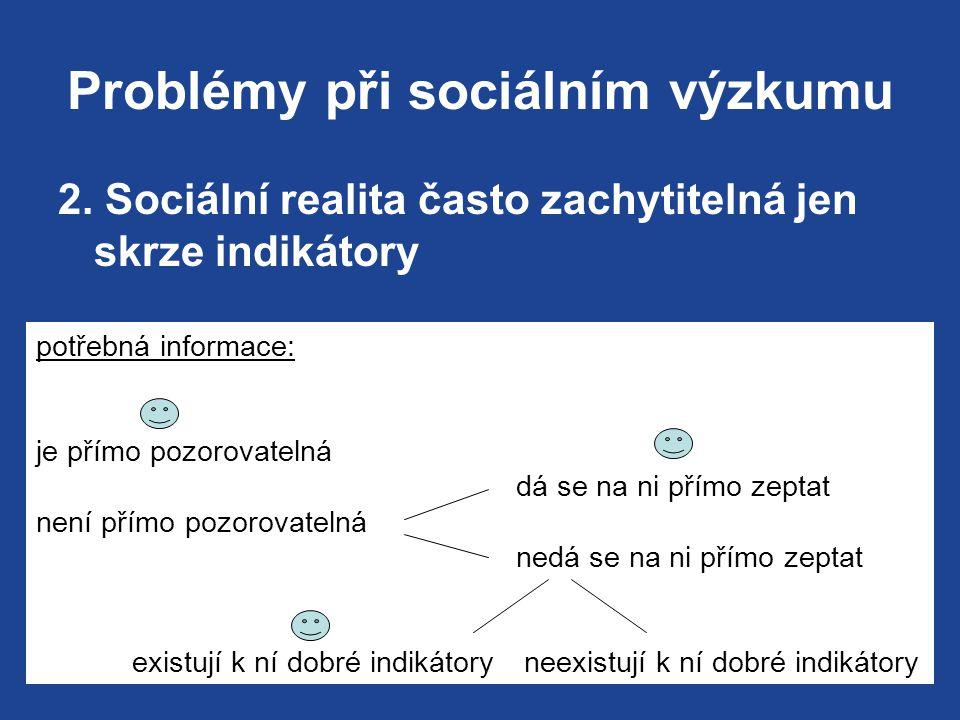 Problémy při sociálním výzkumu 2.