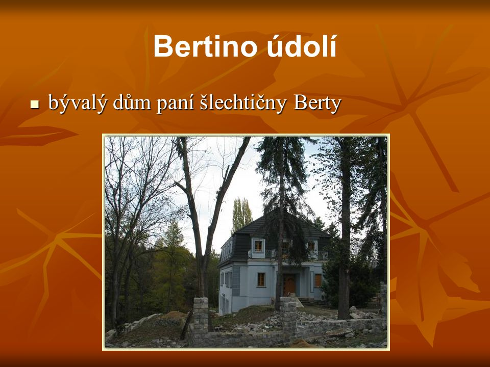 bývalý dům paní šlechtičny Berty bývalý dům paní šlechtičny Berty