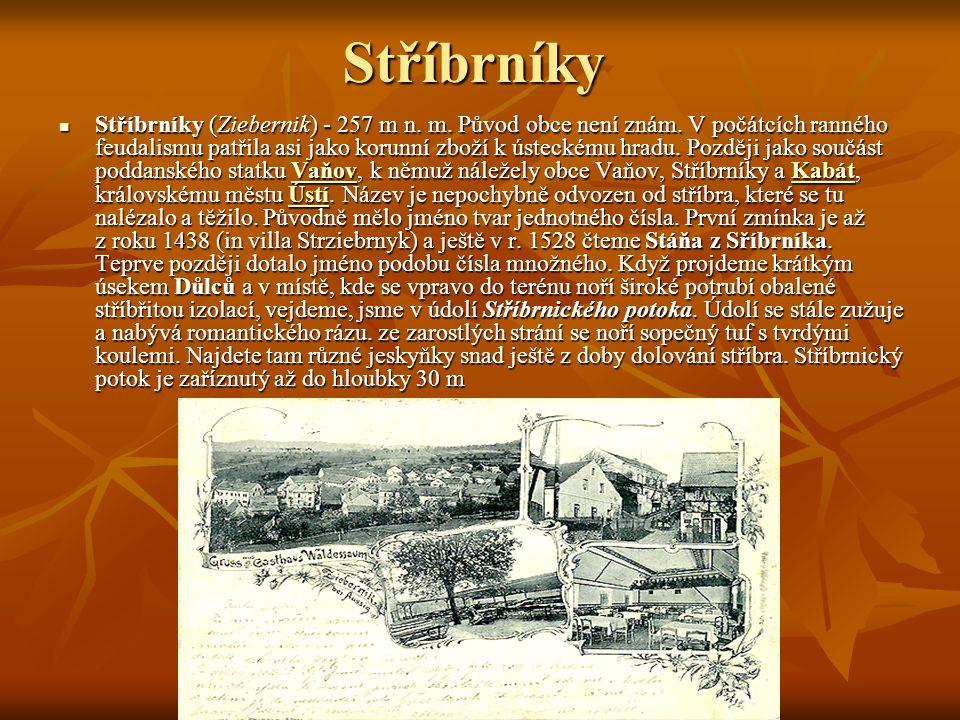 Stříbrníky Stříbrníky (Ziebernik) - 257 m n. m. Původ obce není znám.
