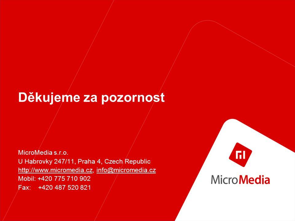 MicroMedia content Technické údaje Lechtivé hlášky nabízíme v těchto formátech: AMR MP3 56kbit stereo RMF SMAF WAV GSM WAV IMA ADPCM Chce-li vědět, které telefony podporují výše uvedené formáty, neváhejte a obraťte se na nás.