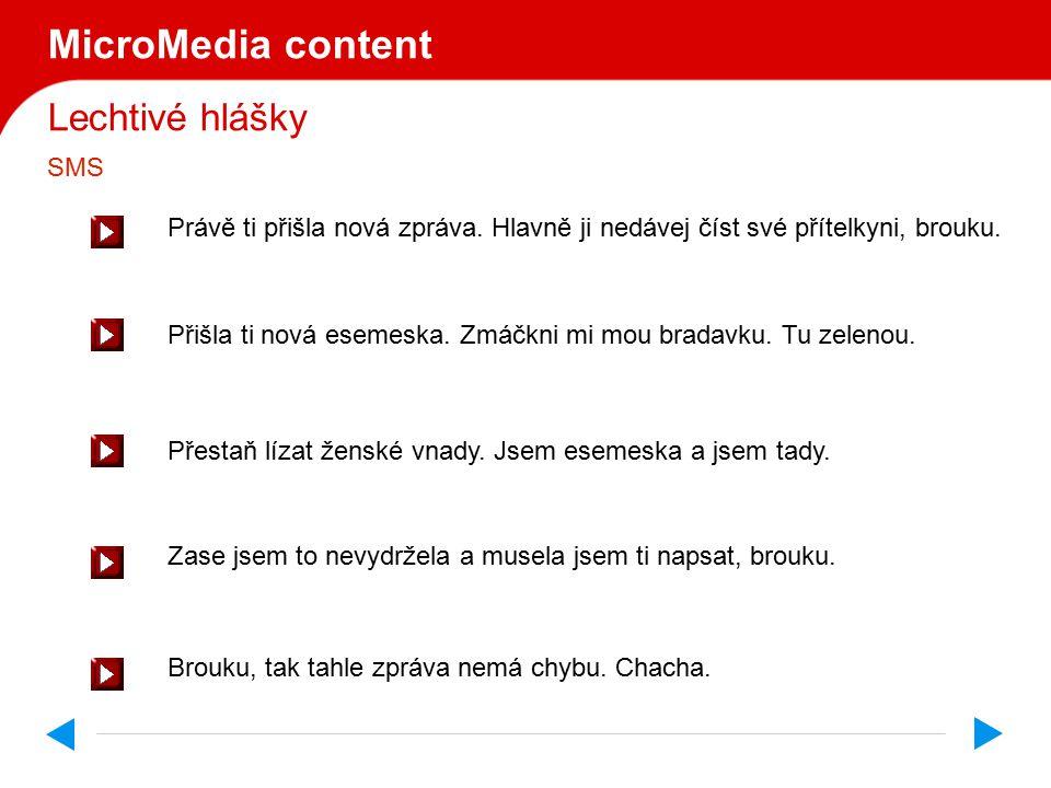 Lechtivé hlášky MicroMedia content Ještě.Ještě. Ještě.
