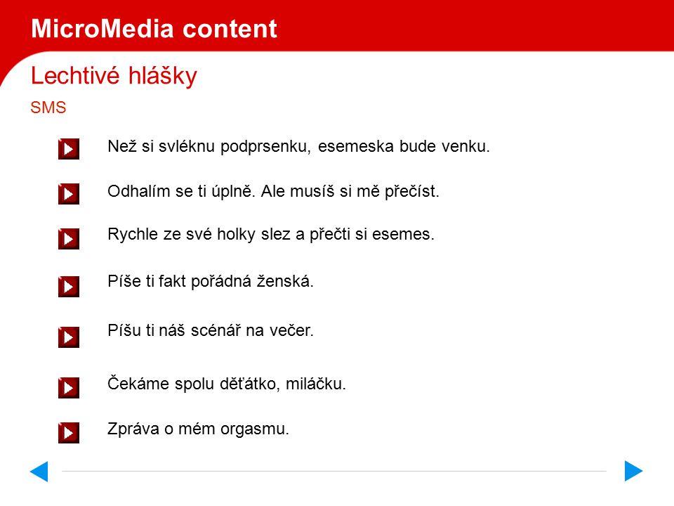 Lechtivé hlášky MicroMedia content Právě ti přišla nová zpráva.