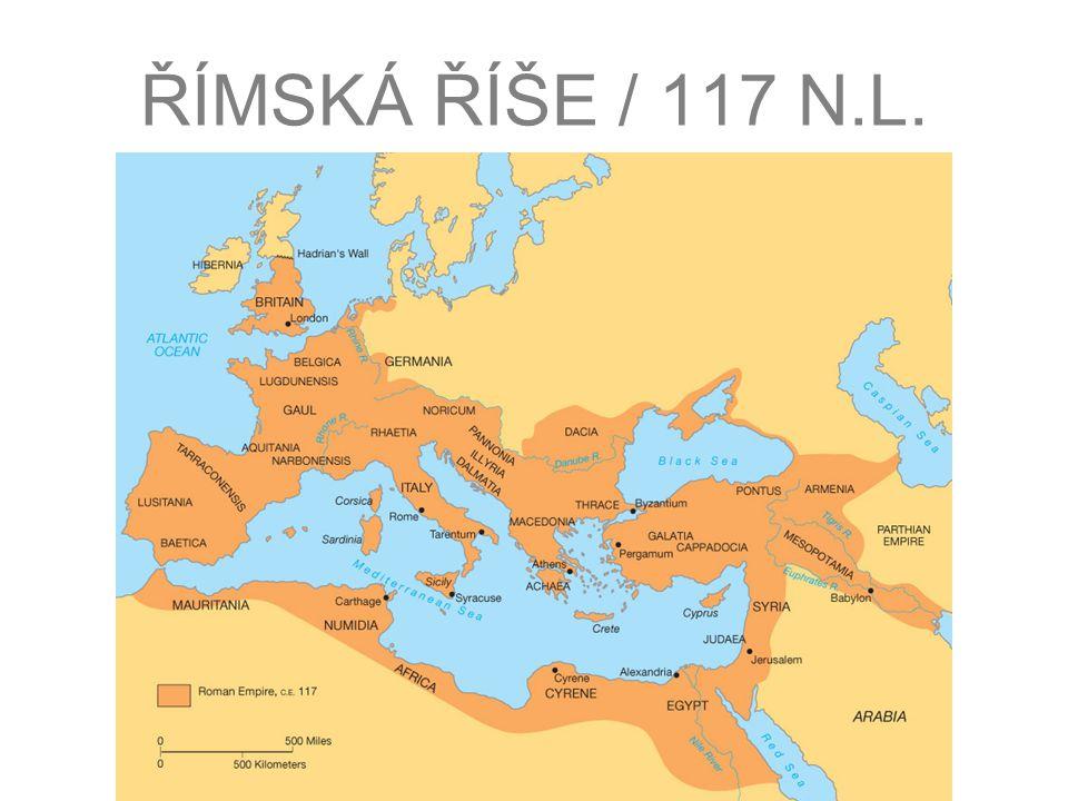 """HISTORICKÉ SOUVISLOSTI civilizace vzešlá z města Říma (založeno asi v roce 753 před n.l., římský letopočet se počítá se """"ab urbe condita = od založení města) kolem roku 500 před n.l."""