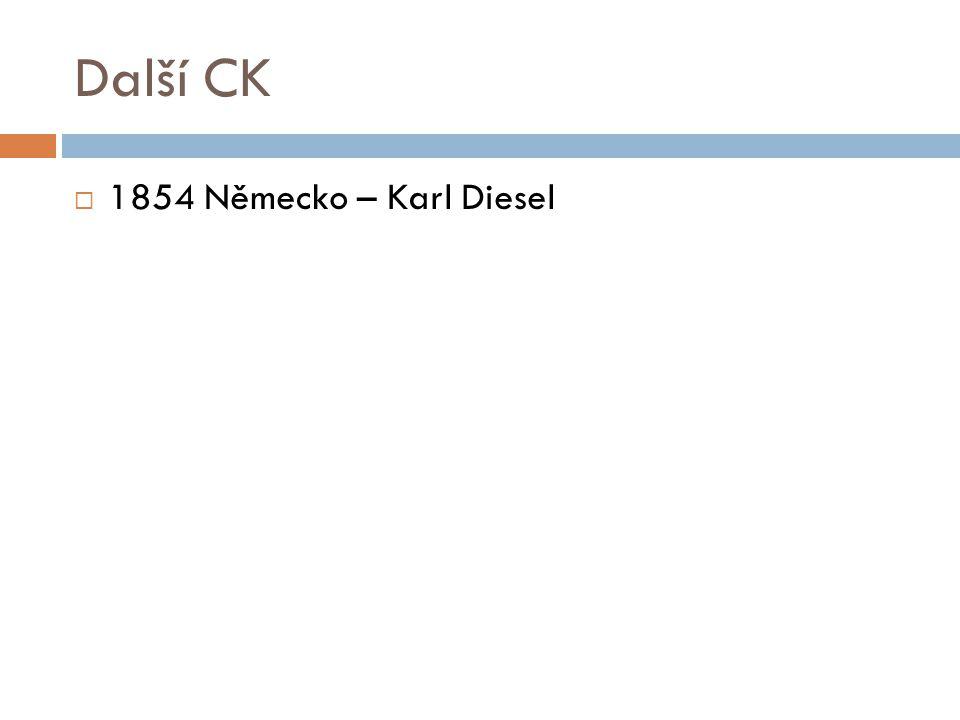Další CK  1854 Německo – Karl Diesel