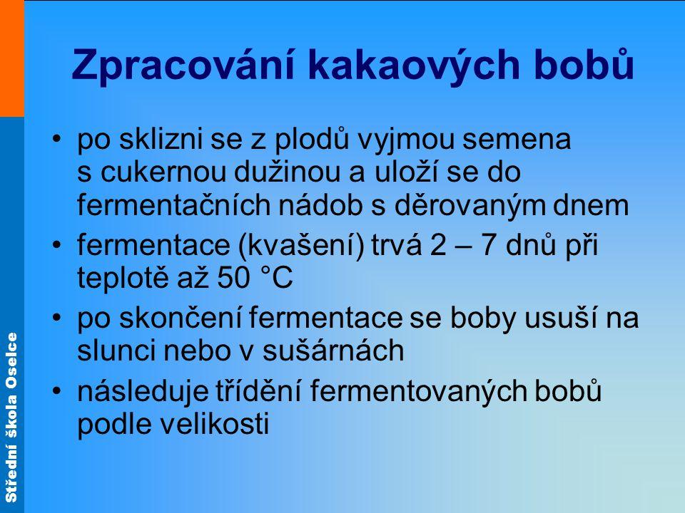 Střední škola Oselce obr.5 Kakaové boby