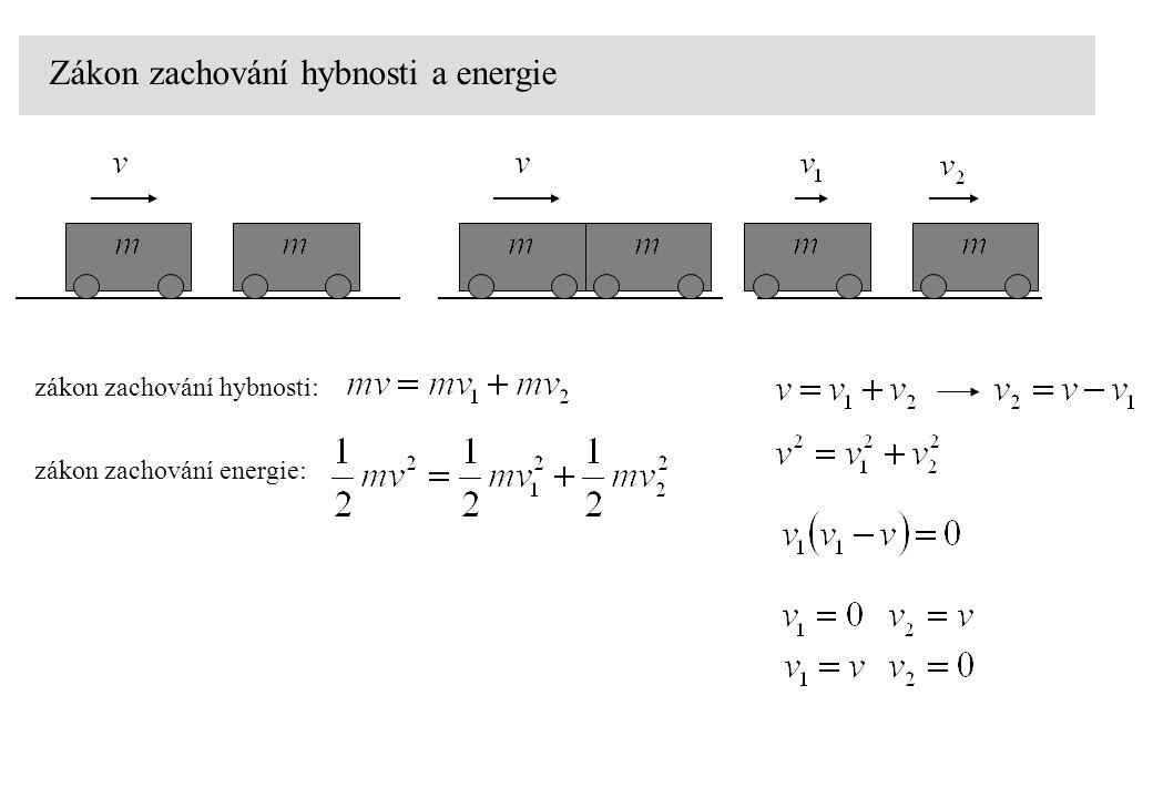 Zákon zachování hybnosti a energie zákon zachování hybnosti: zákon zachování energie: