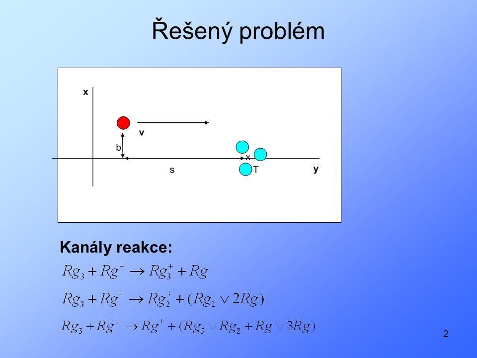 3 Řešený problém - rozdělení podle typu ionizace střely Diabatická ionizace –Mix dvou (tří) energetických stavů –Se zapnutou spin-orbitální interakcí jsou velké rozdíly mezi energiemi konkrétních hladin –Při přeskoku na konkrétní hladinu dojde k velkým změnám hybností jader Adiabatická ionizace –Konkrétní energetická hladina –Spin-orbitální rozštěpení – 2 stavy dolní stav (6.