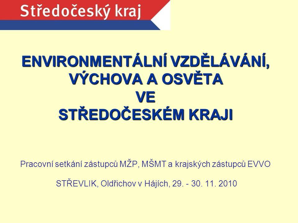 Krajský úřad Středočeského kraje – organizační zajištění EVVO Odbor životního prostředí a zemědělství Mgr.