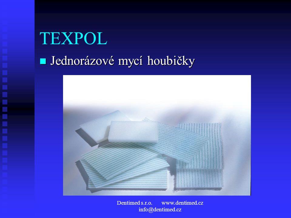 Dentimed s.r.o. www.dentimed.cz info@dentimed.cz TEXPOL Jednorázové mycí houbičky Jednorázové mycí houbičky