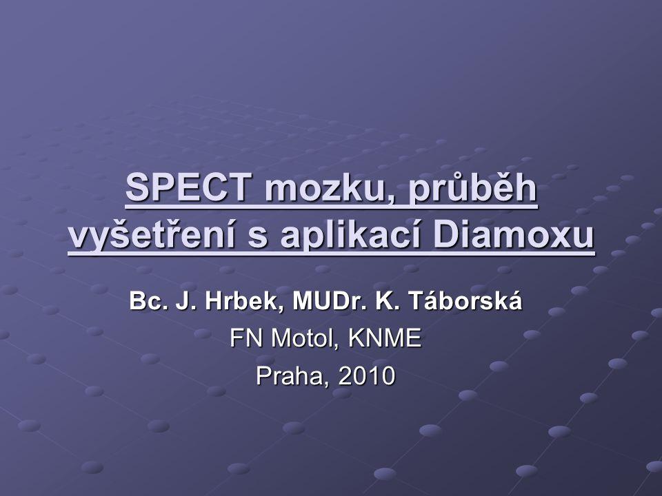 Aplikace RF Radiofarmakum : 99 Tc ECD (ethyl cysteinát dimer) – NEUROLITE.