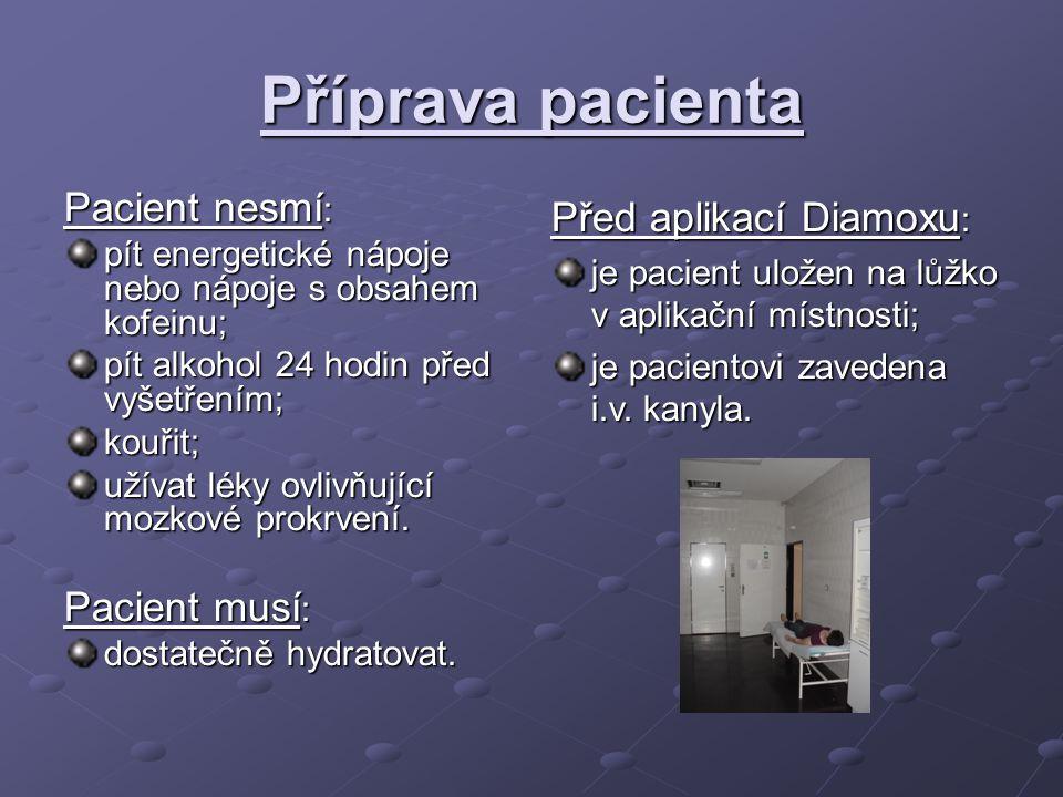 Diamox (acetazolamid) Příprava (sestra): za sterilních podmínek ; dospělí (1 000 mg); dospělí (1 000 mg); děti (14 mg / kg); děti (14 mg / kg); jedna lahvička obsahuje 500 mg acetazolamidu v prášku; pro ředění využíváme aqua pro injectione (cca 5 ml pro 1 lahvičku).