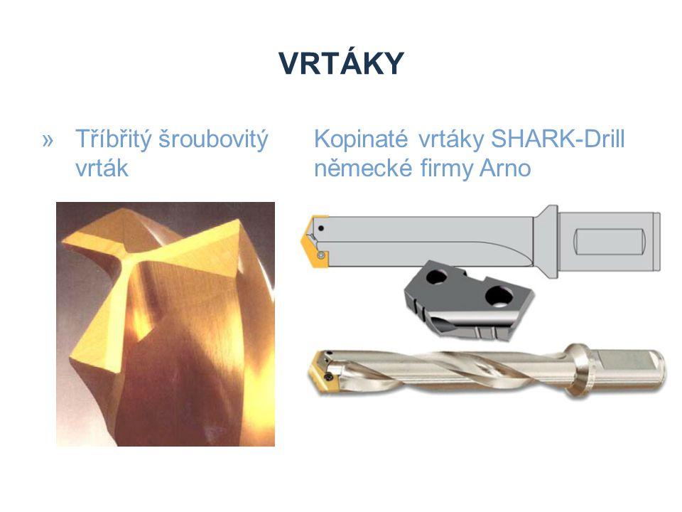 VRTÁKY »Tříbřitý šroubovitý Kopinaté vrtáky SHARK-Drill vrtákněmecké firmy Arno