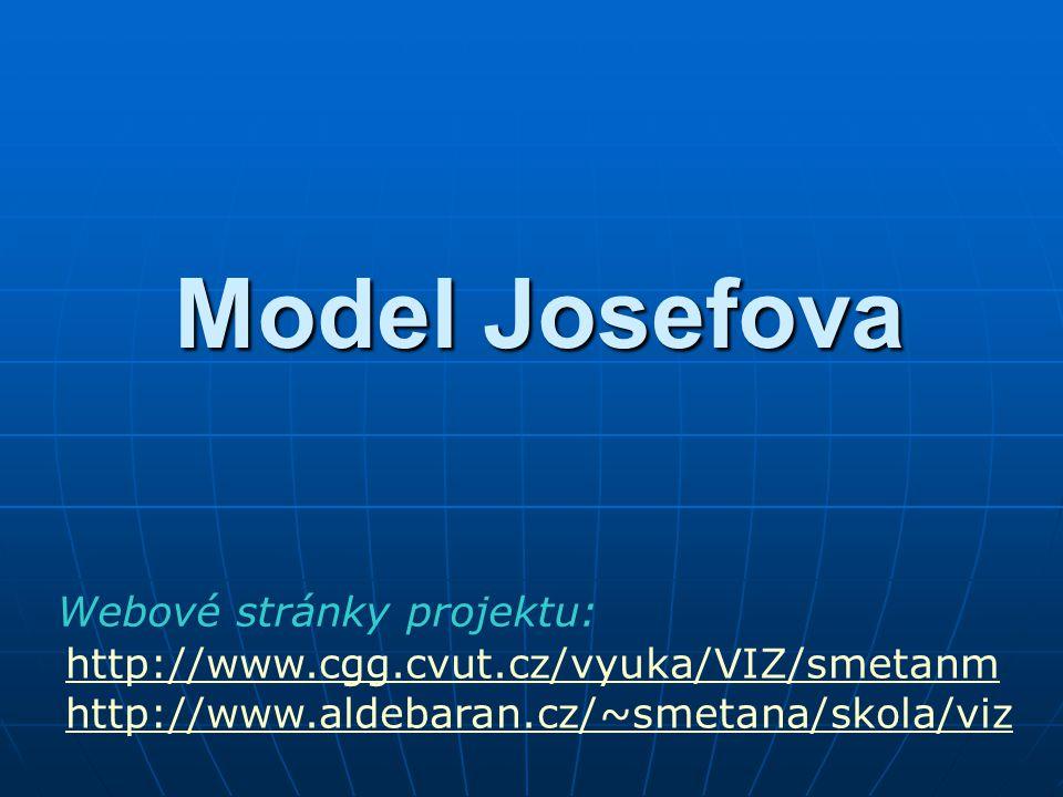 Model Josefova http://www.cgg.cvut.cz/vyuka/VIZ/smetanm http://www.aldebaran.cz/~smetana/skola/viz Webové stránky projektu: