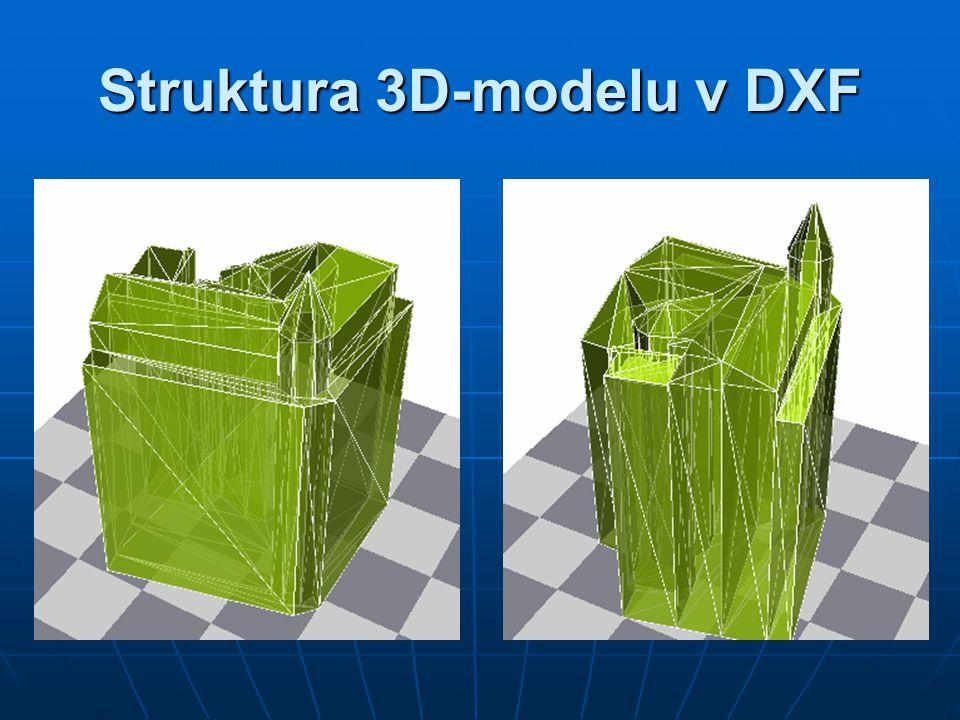 Struktura 3D-modelu v DXF