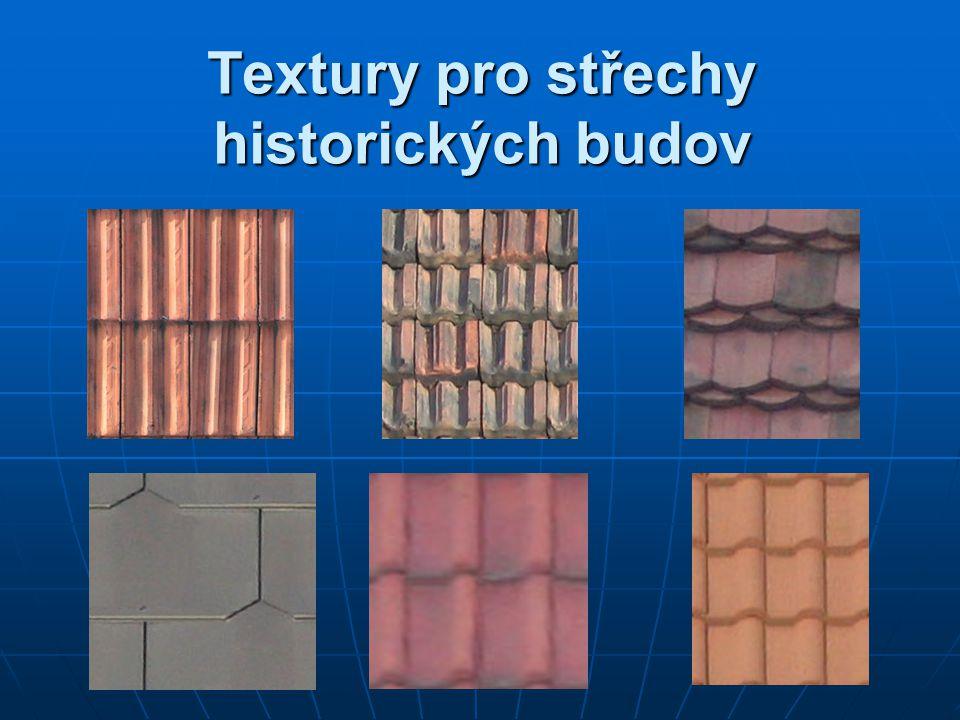 Textury pro střechy historických budov