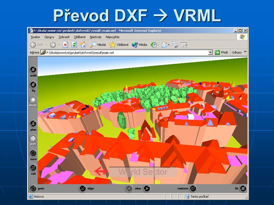 Převod DXF  VRML