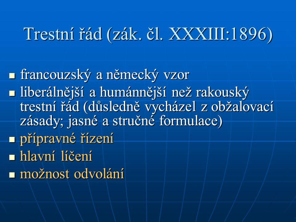 Trestní řád (zák. čl.