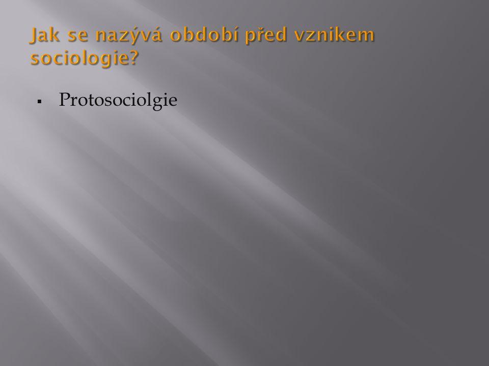  August Comte zařazuje sociologii do systému věd v pozitivistickém duchu  Jako sociální statiku (sociální jevy) a sociální dynamiku (vývoj)  Herbert Spencer – vycházel z evoluční teorie (společnost jako organismus) – organicismus  Max Weber – význam porozumění, sociologické uvažování o sociálním jednání, zabývá se každodenním jednáním a střety, konflikty ve společnosti.